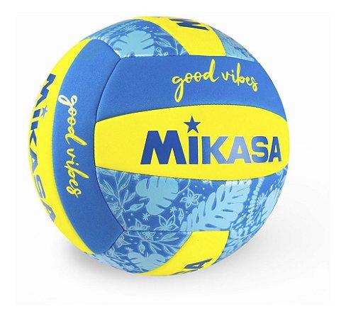 Bola De Voleibol Mikasa Good Vibes Recreação Azul E Amarela
