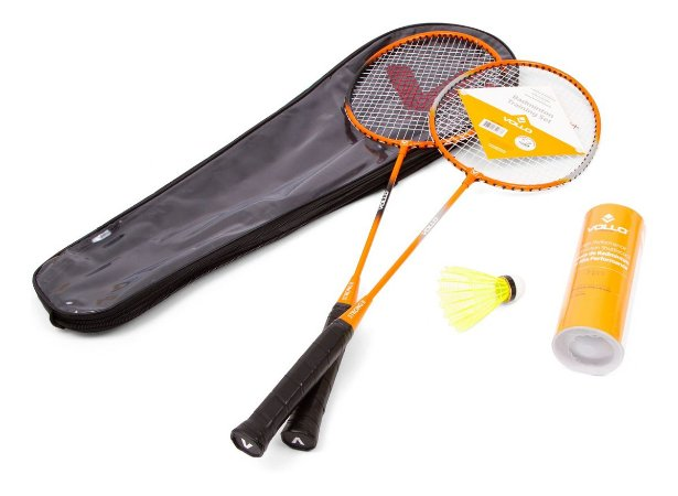 Kit Badminton Vollo  2 Raq. 3 Petecas De Nylon Vb002
