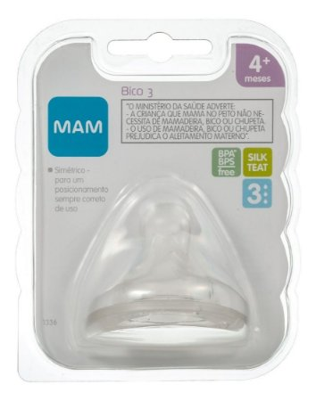 Bico 3 Fluxo Rápido 4+ Meses Embalagem Unitária - Mam 1336