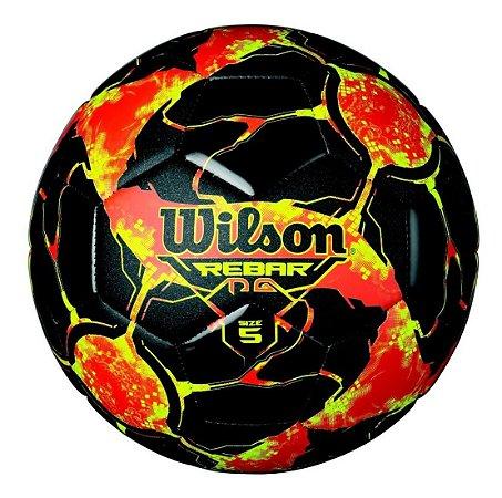 Bola De Futebol Wilson Rebar Vermelha E Preta