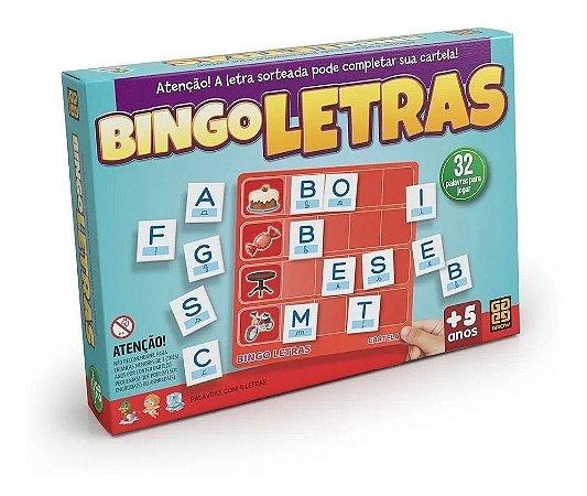 Jogo Bingo Letras 02320 Grow.