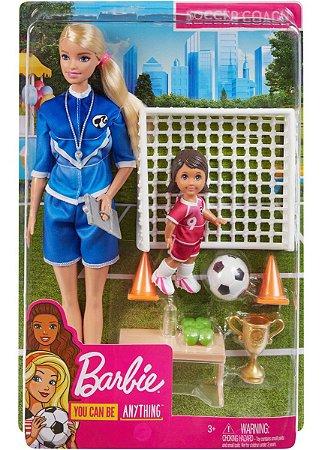 Boneca Barbie Playset Jogadora De Futebol Da Mattel Glm47