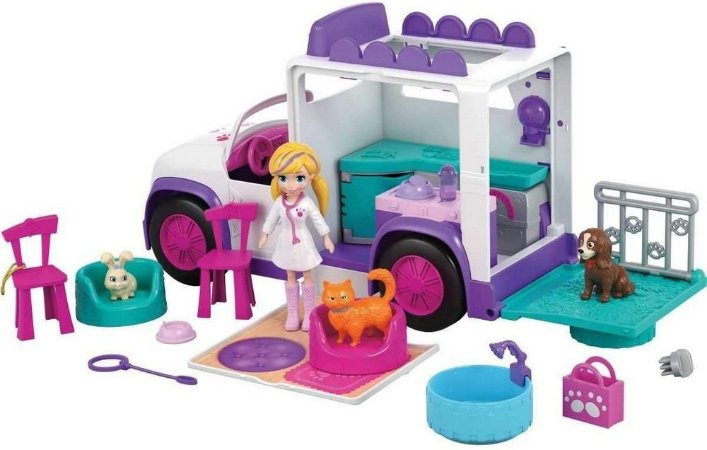 Polly Pocket Hospital Móvel Dos Bichinhos - Mattel Gfr04
