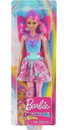 Boneca Barbie Dreamtopia Fada Fantasia Rosa Da Mattel
