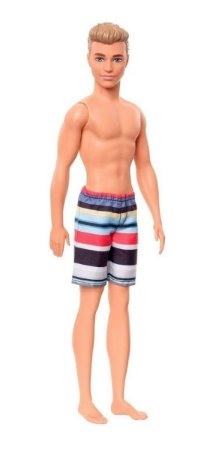 Boneco Ken Roupa De Praia Mattel 30 Cm  Ghw43