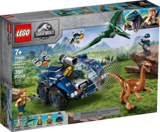 Lego 75940 - Gallimimus E Pteranodonte: Missão De Recaptura