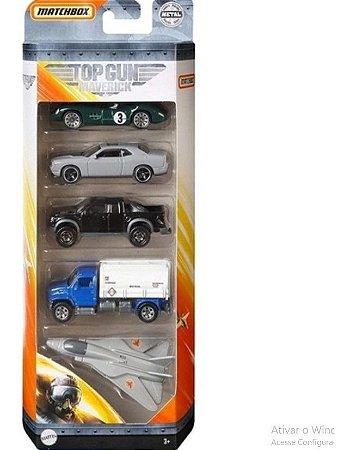 Carrinhos Matchbox Top Gun Maverick Com 5 Veiculos Mattel GR