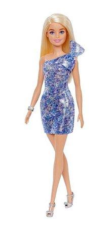 Barbie Glitz Glitter Loira Vestido Azul Grb32