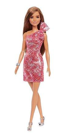 Barbie Glitz Morena Glitter Vestido Vermelho Grb33