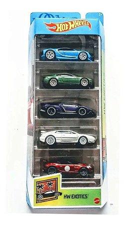 Hot Wheels Hw Exotics Pacote Com 5 Carros Gtn33