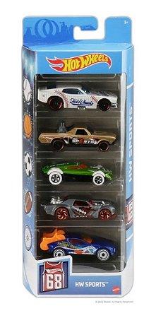 Hot Wheels Hw Sports Pacote Com 5 Carros  Gtn37 - Mattel
