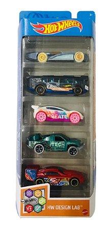 Hot Wheels Design  Lab Pacote 5 Carros  Gtn34 - Mattel