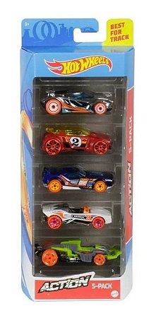 Hot Wheels Action  Pack Com 5 Carrinhos Ghp64 - Mattel