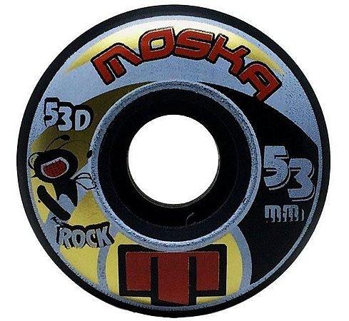 Roda Moska 53mm Rock Black 53d Kit Com 4