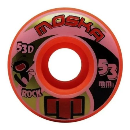 Roda Moska 53mm Rock Orange 53d Kit 4 Rodas