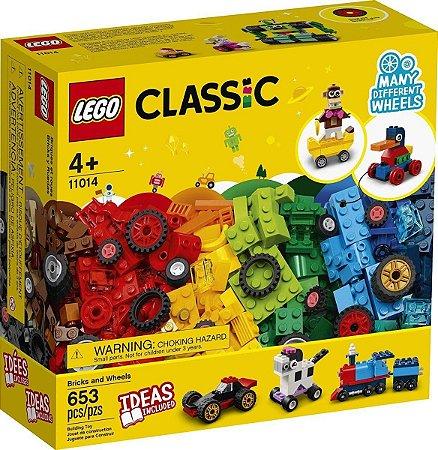 Lego Classic  11014 Caixa Blocos E Rodas  653 Peças