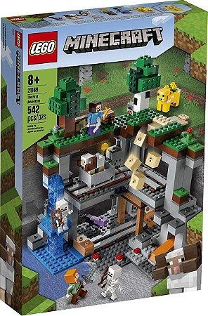 Lego Minecraft A Primeira Aventura 21169 542 Peças