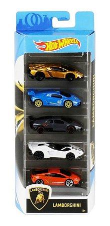 Hot  Wheels Lamborghini  Pacote Com 5 Carros Ghp62