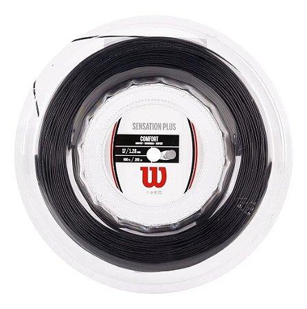 Corda Wilson Sensation Plus 17l 1.28mm Preta - Rolo Com 200m