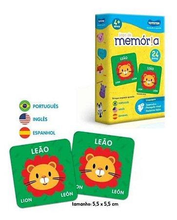 Jogo Da Memória Animais Português Inglês E Espanhol Toyster