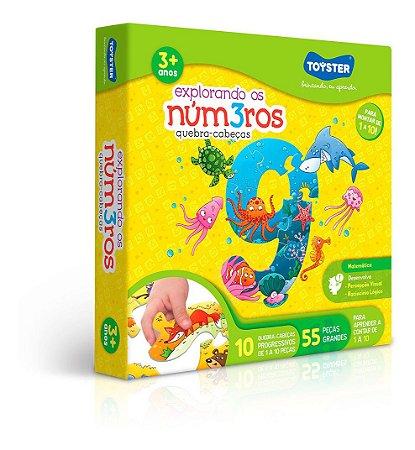 Quebra-cabeça Explorando Os Números Com 55 Peças Toyster