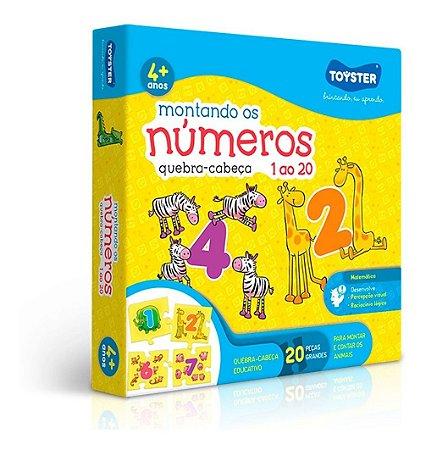 Quebra - Cabeça Montando Os Números 1 Ao 20 Toyster