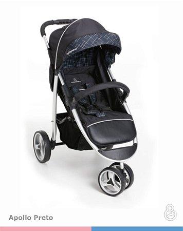 Carrinho de Passeio Travel System + Bebê Conforto - Apollo - Galzerano - Preto