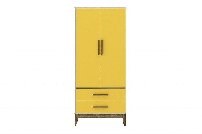 Roupeiro 2 Portas Nature - Amarelo com Eco Wood
