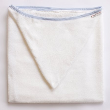 Toalha de Banho com Capuz - Viés Azul
