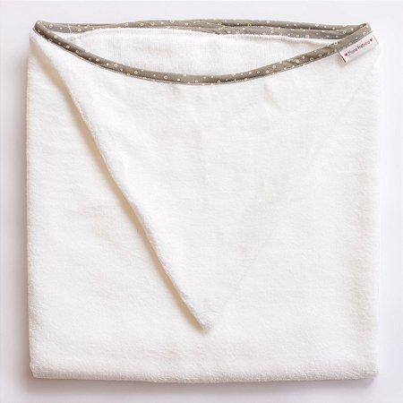 Toalha de Banho com Capuz - Viés Cinza