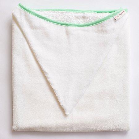 Toalha de Banho com Capuz - Viés Verde