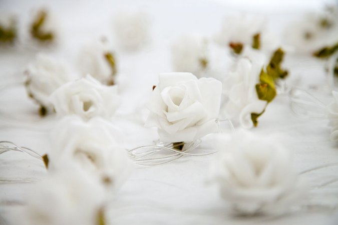 Rosas Brancas - Fairy Light   Luminária   Luz de Fadas