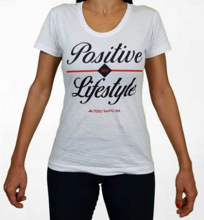 BABY LOOK POSITIVE LIFESTYLE WHITE