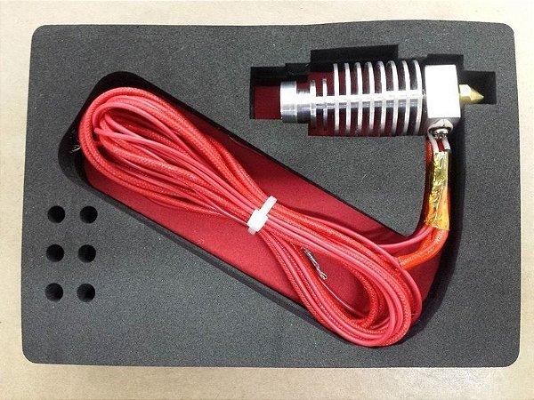 Hotend All Metal para Filamento 1.75mm -  Completo e Montado - Bico 0,4mm