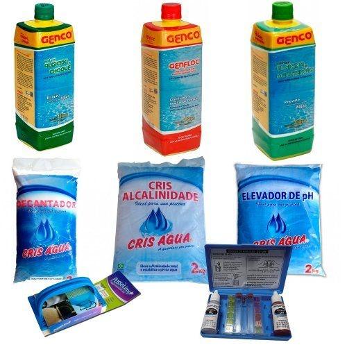 Kit Limpeza para Piscinas - Genco - Com Brinde - Tratamento de Piscinas