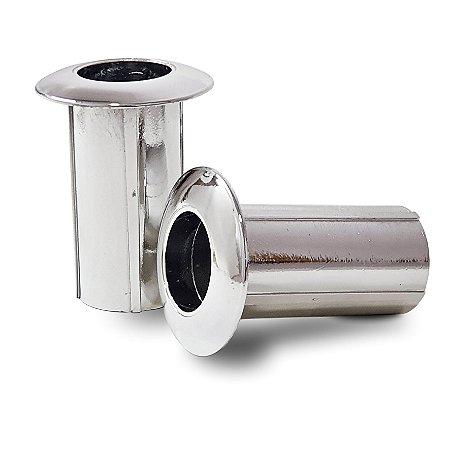 Chumbador de Escada p/ Piscina em ABS Metalizado - Par