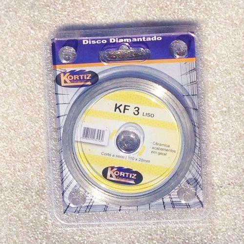 Disco de Corte - Diamantado - Kortiz - KF 3 Liso