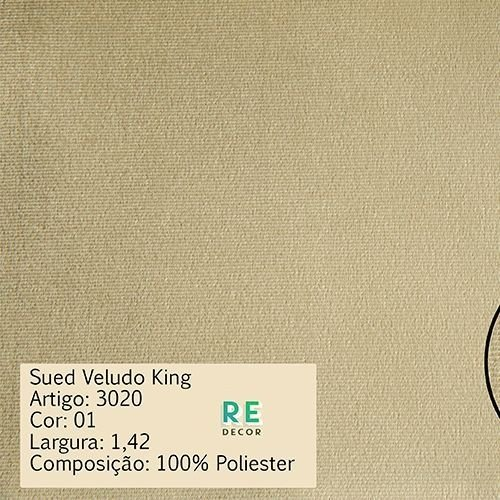 Tecido - Suede King - Para Tapeçaria