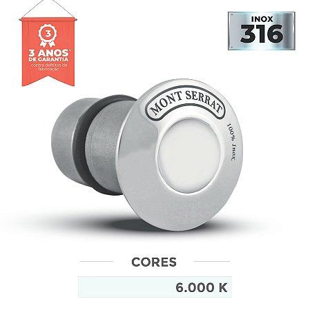 Balizador para Piscinas Inox - Super Led 1w - Encaixe - Branco Frio 6.000k