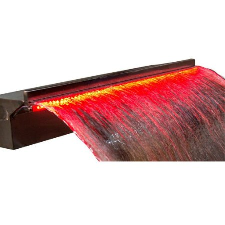 Cascata de Embutir 200 cm para Piscina com Led - Aço Inox 304