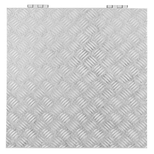 Tampa de Casa de Máquina 1,20 x 1,20 - Alumínio Xadrez