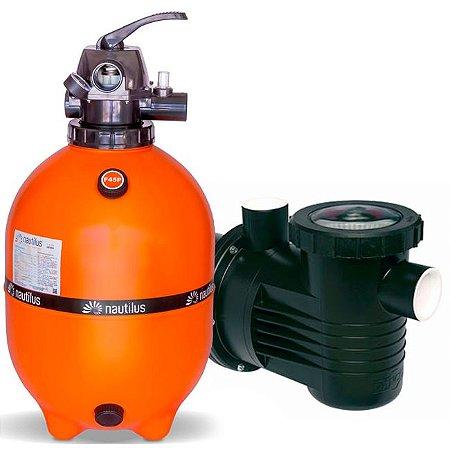 Filtro E Motobomba Para Piscinas até 65 M³ - F450p - PF-17 1/2 Cv - Mix Nautilus e Dancor