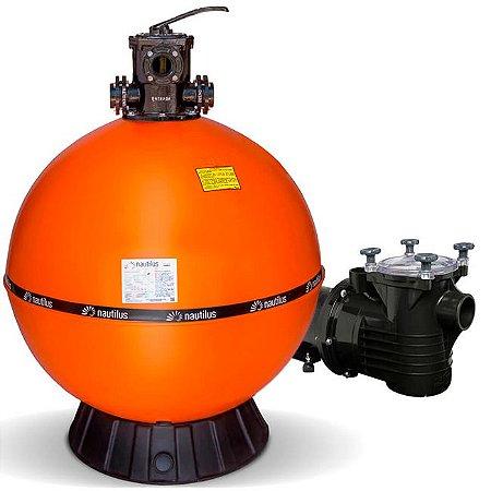 Filtro E Motobomba Para Piscinas até 350 M³ - F950p - PF-22 3 Cv - Mix Nautilus e Dancor