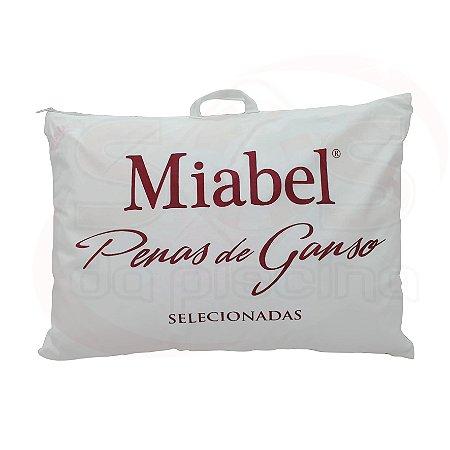 Travesseiro Miabel  Tradição Firme - Vermelho -Penas De Ganso 50x70 cm