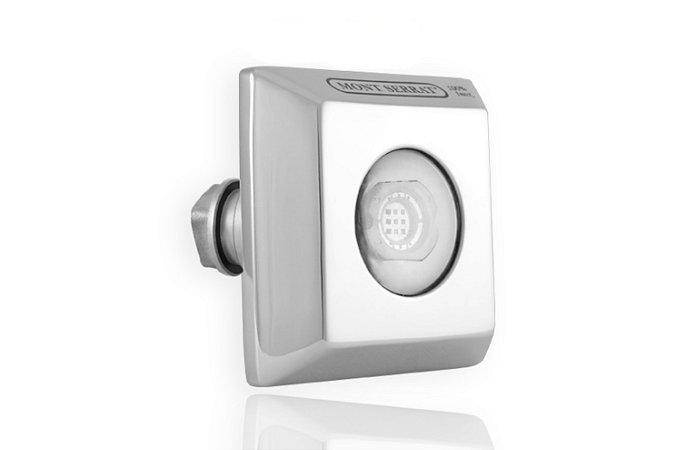 Refletor Inox SL-25 Monocromático Encaixe Quadrado Branco p/Alv -Mont Serrat