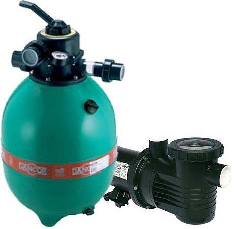 Filtro DFR-15 - 7 - c/Bomba 1/2 cv - s/Areia - Dancor - Para Piscinas de até: 56.000 Litros
