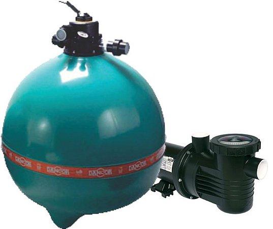 Filtro DFR- 30  - 18 - c/Bomba 2,0 cv - s/Areia - Dancor -  Para Piscinas de até: 147.000 Litros