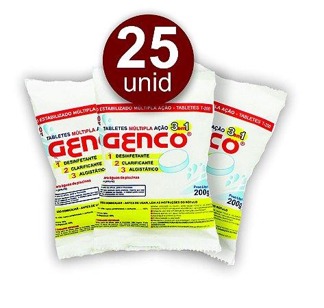 Pastilha de Cloro - 3 em 1 - Genco - 200 g - 25 Un