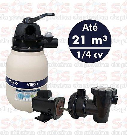 Filtro  V20 Veico Até 21 M³ - E Motobomba   1/4 Cv - Cmb  220v
