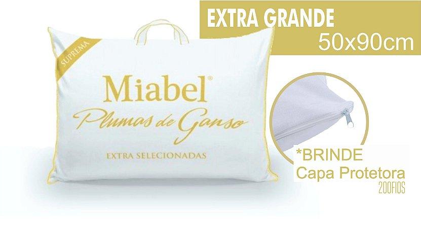 Travesseiro Miabel Suprema 100% Plumas De Ganso *Extra Selecionado*  50x90 cm